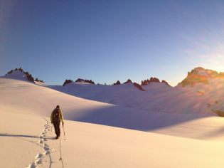 Crossing the Inspiration Glacier, North Cascades National Park