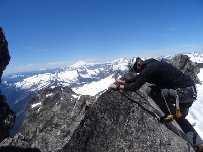 Descending the NE Ridge of Dorado Needle