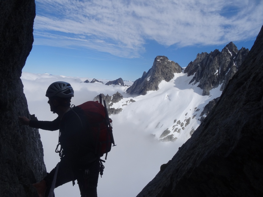 On the West Arete of Eldorado Peak. North Cascades National Park