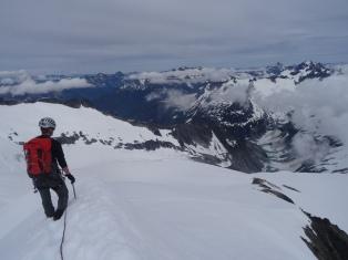 descending the east ridge of Eldorado Peak, North Cascades National Park