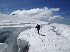 Approaching the North Ridge of Mount Baker