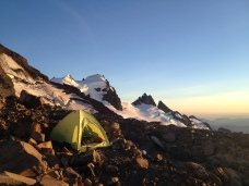 High Camp on Baker. Black Buttes are behind