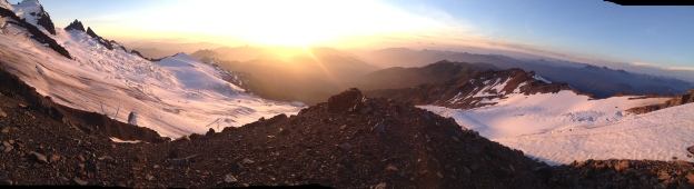 Panorama from the North Ridge of Baker