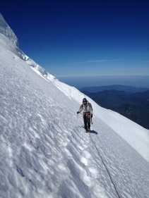 High on the north ridge of Mount Baker