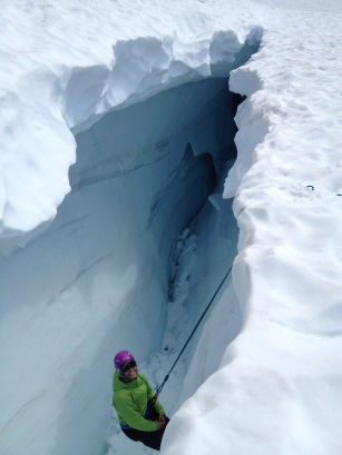 Crevasse rescue practice on the Quien Sabe Glacier, North Cascades National Park