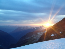 Sunset from the Quien Sabe Glacier