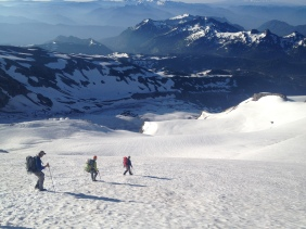 Descending the Turtle Snowfield, Mount Rainier National Park