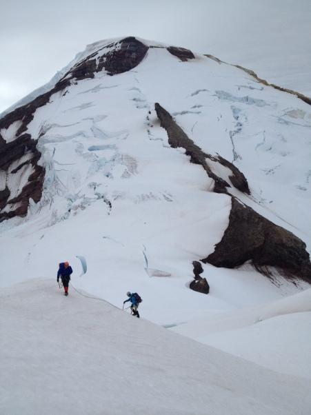 High on the East Ridge of Colfax Peak, Mount Baker behind