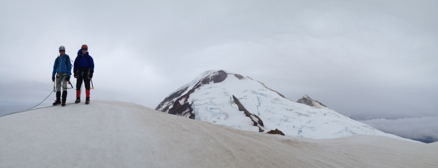 On the summit of Colfax Peak, Baker is behind